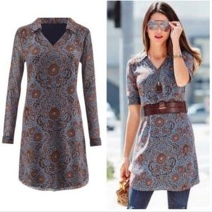 CAbi Size S Provincial Tunic Dress Style#3295